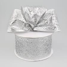 silver glitter ribbon 2 5 hexagon glitter ribbon silver 10 yards rl183626