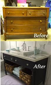 Dresser Turned Bathroom Vanity 1105 Best Refinishing Images On Pinterest Painted Furniture