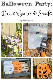 halloween party easy decor games u0026 snacks my creative days