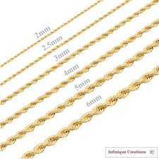 rope necklace designs images 24k gold plated stainless steel rope chain necklace men women 2mm jpg