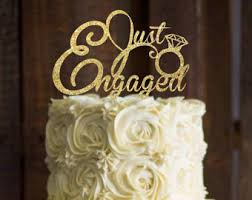 engagement cake topper we u0027re engaged cake topper bridal