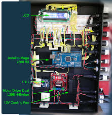 Backyard Chicken Blogs by Chicken Coop Controller Showing Arduino Mega With All Components