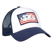 Usa Flag Hats Rowdy Gentleman American Flag Logo Mesh Trucker Hat In Navy