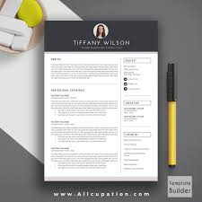 Education Resume Creative Resume Template Cover Letter Word Modern Simple