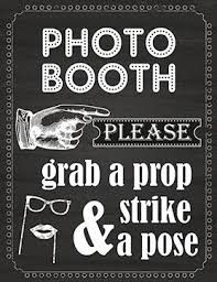 photo booth sign photo booth prop sign printed on 65 lb card stock