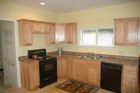 Kitchen With Black Cabinets Considering Black Appliances Part 2 Oak Cabinet Kitchen With