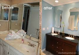 Before After Bathroom Makeovers - life after empty nest kicking the 80 u0027s out of the guest bathroom
