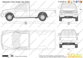 mitsubishi triton 2005 the blueprints com vector drawing mitsubishi triton single cab