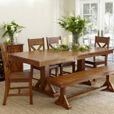 bench style dining table lovely with kitchen modern tables country