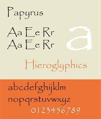 Good Resume Fonts For Designers by Papyrus Typeface Wikipedia
