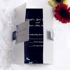 wedding invitations with rsvp cards included blue and black pocket wedding invites with rsvp cards ewpi057 as