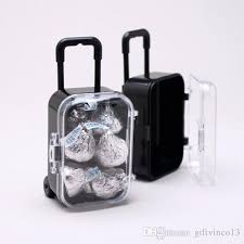 Suitcase Favors by Mini Travel Rolling Suitcase Wedding Favor Plastic