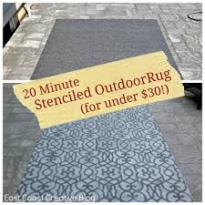 Painting An Outdoor Rug Cheap Outdoor Rug Outdoor Rugs Stenciling And Spray Painting