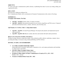 Sample Resume For College Student Looking For Summer Job Examples Of A College Resume Resume Example And Free Resume Maker