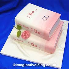 the book of love i do wedding cake shaped like books brides