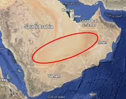rub al khali map mysterious river discovered in saudi arabia empty quarter