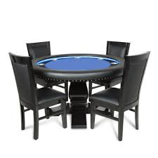 round poker table with dining top ginza led blue round 6 person poker table with dining top and 6
