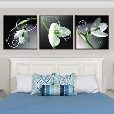 aliexpress com buy 2017 3 piece unframed fashion white lily set