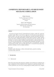 combining deformable and rigid body mechanics simulation pdf