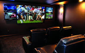 small room home theater ideas small movie room ideas big screen on the brown wall color