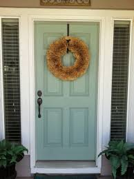 Blue Front Door Meaning by Other Design Stunning Front Porch Decoration Using Yellow Paint