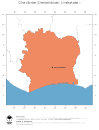 Ivory Coast Map Landkarte Republik Côte D U0027ivoire Elfenbeinküste Ginkgomaps
