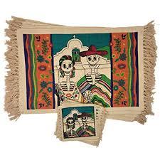 Amazon SpiritFest Sugar Skull Placemats & Coasters Set of 8