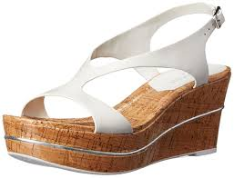 amazon com donald j pliner women u0027s delon wedge sandal white calf