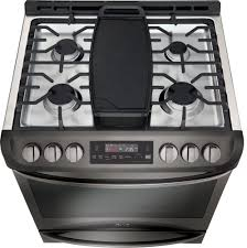 Gas Stainless Steel Cooktop Lg Lsg4513bd 30 Inch Slide In Gas Range With Convection Lg
