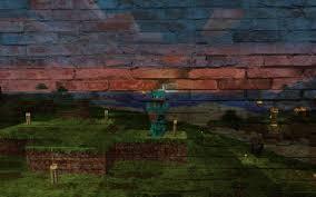 minecraft brick painting wallpaper minecraft wallpaper