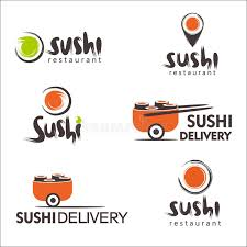 collection of vector logos of sushi logo design for restaurants
