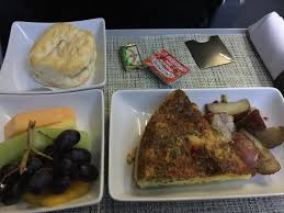 United Airlines American Airlines by Meal Review American Airlines Domestic First Class Quiche