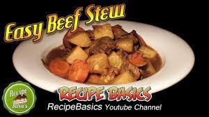 easy beef stew recipe slow cooker recipe youtube