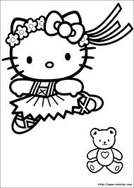 imprimer coloriage hello kitty princesse