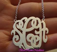 sterling silver monogram necklace pendant 181 best monogram necklace images on monogram necklace