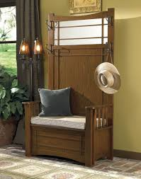 Entryway Hall Tree by Hall Tree With Storage Bench Full Length Mirror Coat Rack For
