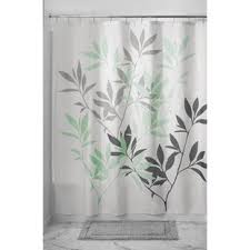 Green And Gray Shower Curtain Green Shower Curtains You Ll