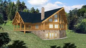 log home plans with walkout basement open floor plans log open