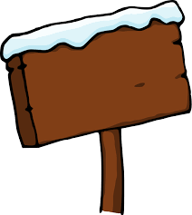 snow wood sign clipart the cliparts