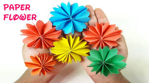 diy paper flower tutorial easy paper flowers origami flower