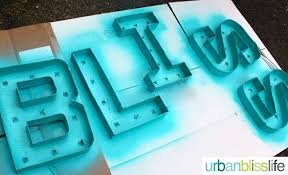 diy bliss easy diy marquee letters tutorial urban bliss life