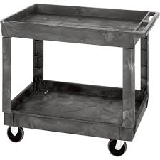 Industrial Kitchen Cart by Quantum Industrial Plastic Cart U2014 40in L X 26in W X 32 1 2in H 2