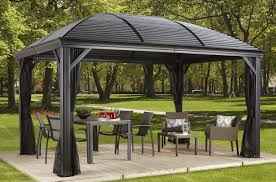 Pop Up Gazebos With Netting by Sojag Moreno 10 Ft W X 12 Ft D Aluminum Permanent Gazebo