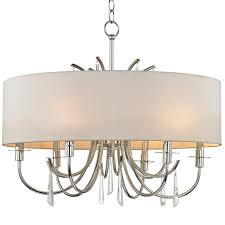 Crystal Chandelier Band Crystorama Crystorama Cody 6 Light Crystal Polished Nickel
