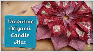 origami candle mat full free tutorial by babs at myfieryphoenix