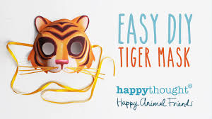 be a tiger in no time mask template and tutorial make your own