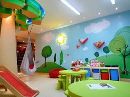 diy kids bedroom ideas diy playroom ideas with wall art and storage and green round table