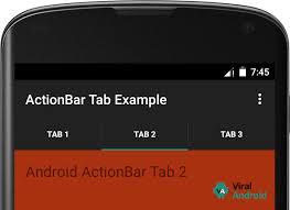 tutorial android menu bar android actionbar tabs exle viral android tutorials exles