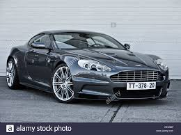 vintage aston martin stationary aston martin james bond classic car stock photo