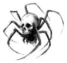 spider skull design